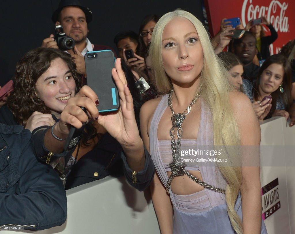 Recording artist Lady Gaga attends the 2013 American Music Awards Powered by Dodge at Nokia Theatre L.A. Live on November 24, 2013 in Los Angeles, California.