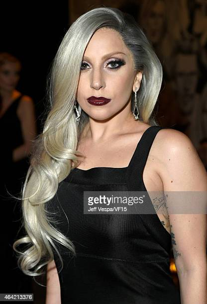 Recording artist Lady Gaga attends the 2015 Vanity Fair Oscar Party hosted by Graydon Carter at the Wallis Annenberg Center for the Performing Arts...