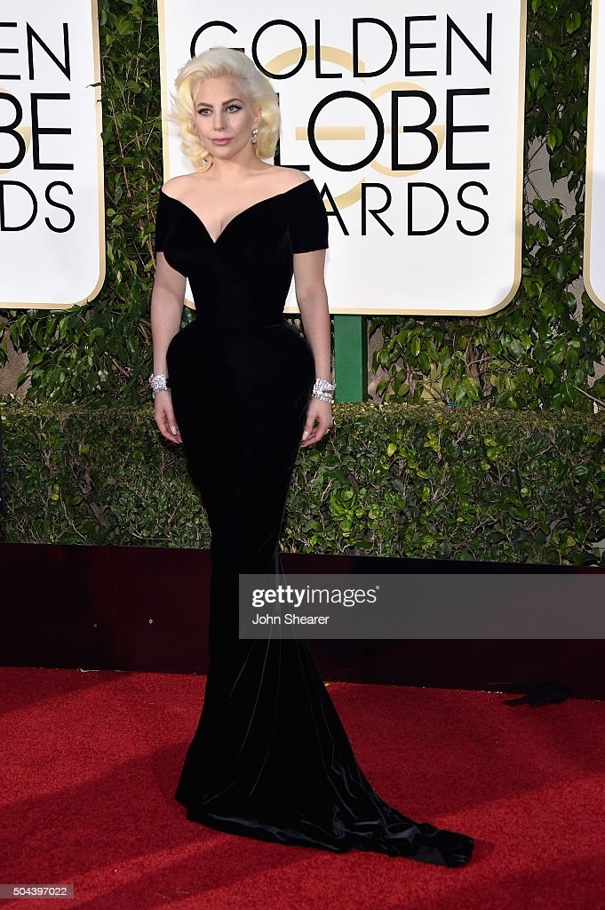 Recording artist Lady Gaga attends the 73rd Annual Golden Globe Awards held at the Beverly Hilton Hotel on January 10 2016 in Beverly Hills California