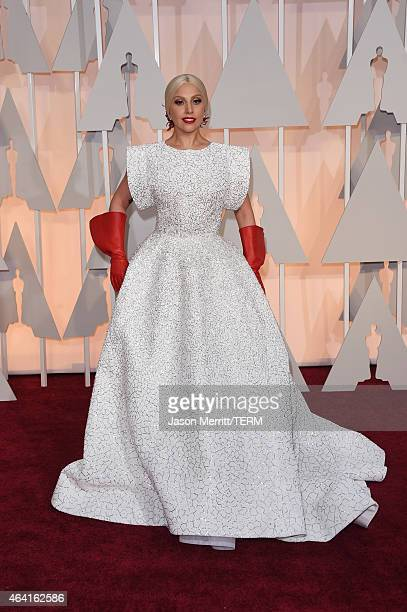 Recording artist Lady Gaga attends the 87th Annual Academy Awards at Hollywood Highland Center on February 22 2015 in Hollywood California