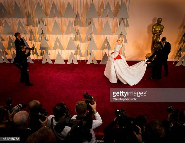 Recording artist Lady Gaga attends the 87th Annual Academy Awards at Dolby Theatre on February 22 2015 in Hollywood California