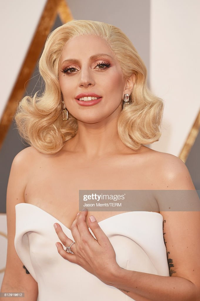 Recording artist Lady Gaga attends the 88th Annual Academy Awards at Hollywood Highland Center on February 28 2016 in Hollywood California