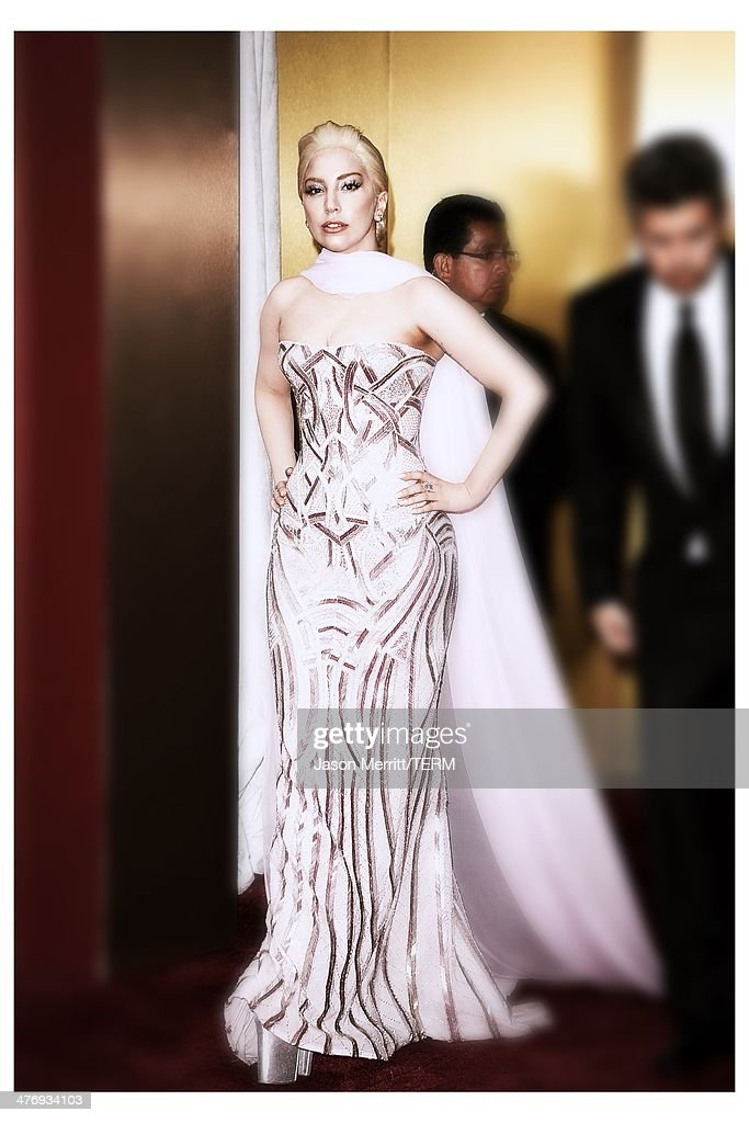 Recording artist Lady Gaga attends the Oscars held at Hollywood & Highland Center on March 2, 2014 in Hollywood, California.