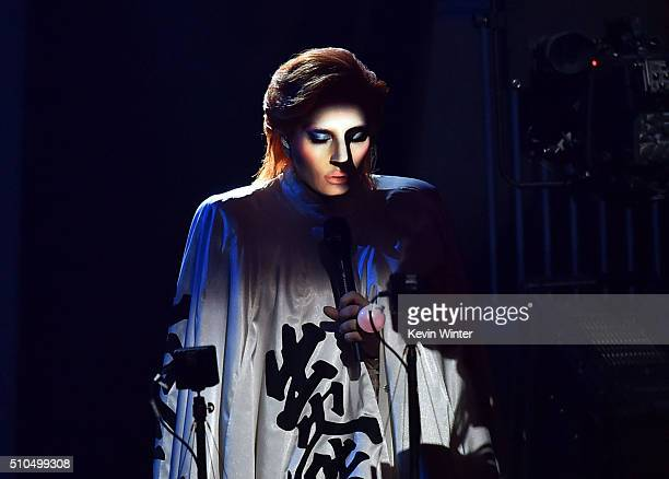 Recording artist Lady Gaga performs onstage during The 58th GRAMMY Awards at Staples Center on February 15 2016 in Los Angeles California