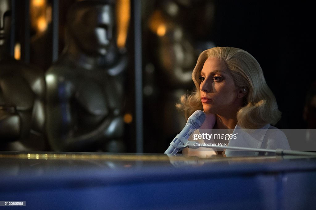 Recording artist Lady Gaga performs onstage the 88th Annual Academy Awards at Dolby Theatre on February 28 2016 in Hollywood California
