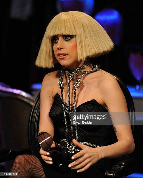 Recording artist Lady Gaga visits fuse TV's 'On The Record' at fuse Studios on November 3 2009 in New York City