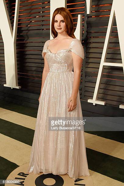 Recording artist Lana Del Rey attends the 2016 Vanity Fair Oscar Party Hosted By Graydon Carter at the Wallis Annenberg Center for the Performing...