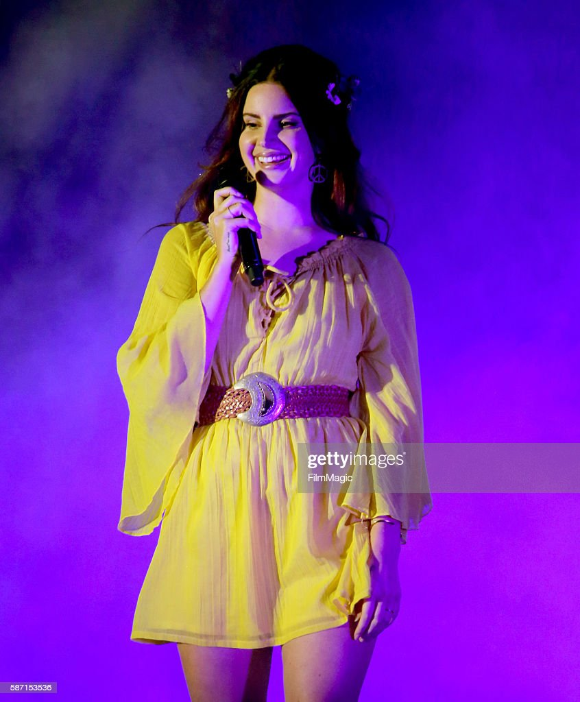 Recording artist Lana Del Rey performs on the Twin Peaks Stage during the 2016 Outside Lands Music And Arts Festival at Golden Gate Park on August 7...