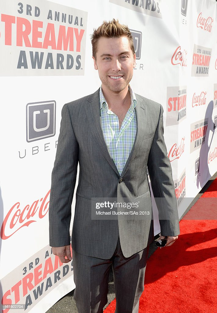 Recording artist <a gi-track='captionPersonalityLinkClicked' href=/galleries/search?phrase=Lance+Bass&family=editorial&specificpeople=210566 ng-click='$event.stopPropagation()'>Lance Bass</a> attends the 3rd Annual Streamy Awards at Hollywood Palladium on February 17, 2013 in Hollywood, California.