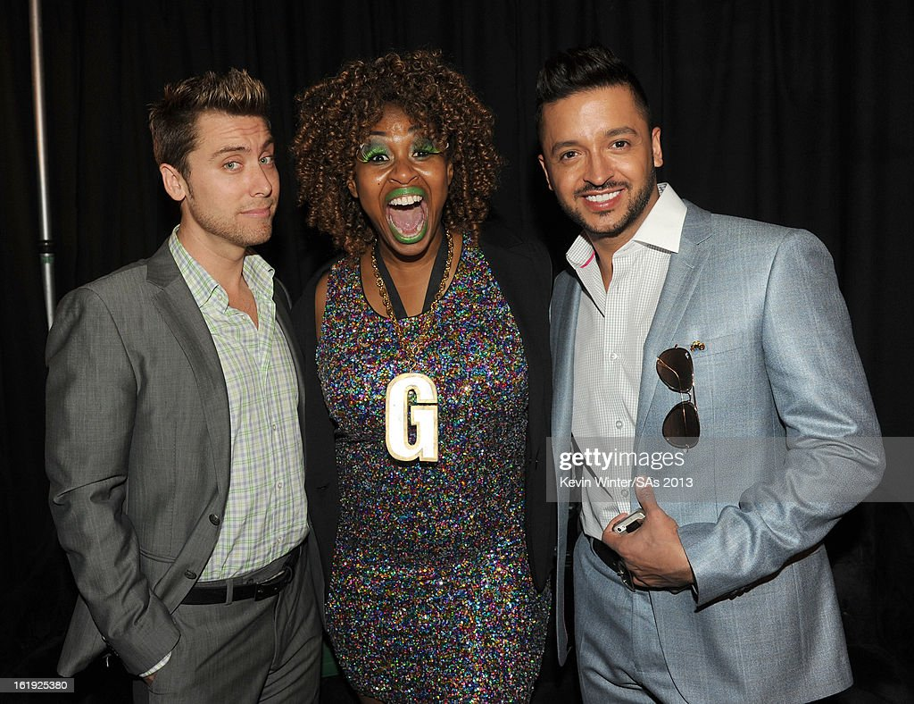 Recording Artist Lance Bass, comedian GloZell Green and actor Jai Rodriguez attend the 3rd Annual Streamy Awards at Hollywood Palladium on February 17, 2013 in Hollywood, California.