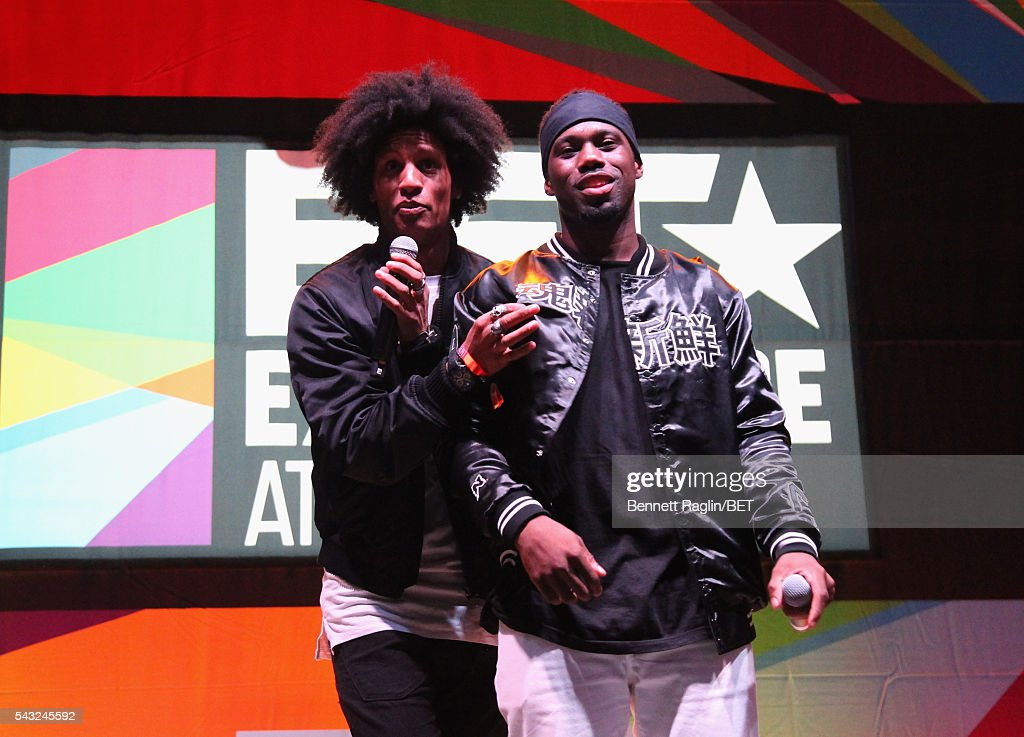 Recording artist Larry Bourgeois (L) of Les Twins performs on the BETX stage during the 2016 BET Experience on June 26, 2016 in Los Angeles, California.