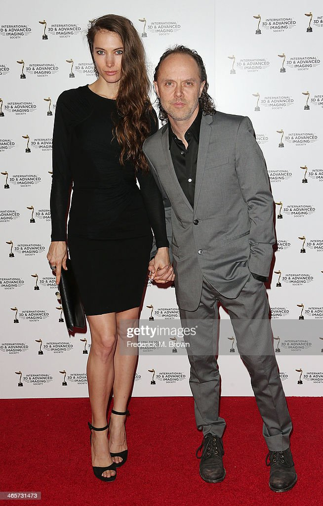 Recording artist Lars Ulrich (R) and his guest attend the 2014 International 3D and Advanced Imaging Society's Creative Arts Awards at the Steven J. Ross Theatre, Warner Bros. Studios on January 28, 2014 in Burbank, California.