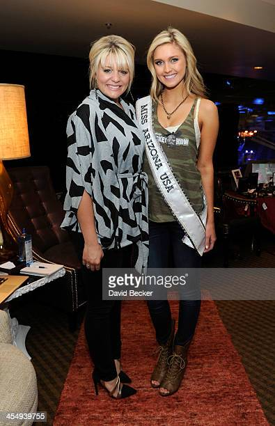 Recording artist Lauren Alaina and Miss Arizona USA 2014 Jordan Wessel attend the Backstage Creations Celebrity Retreat at the American Country...