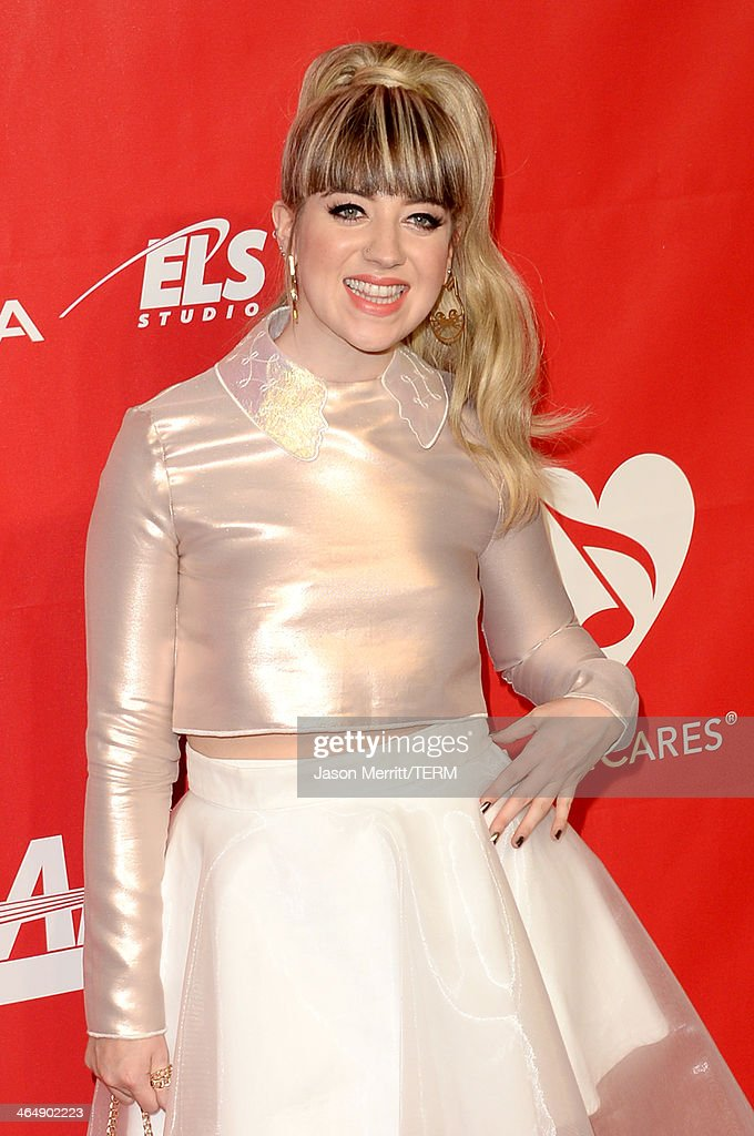 Recording artist Leah McFall attends The 2014 MusiCares Person Of The Year Gala Honoring Carole King at Los Angeles Convention Center on January 24, 2014 in Los Angeles, California.