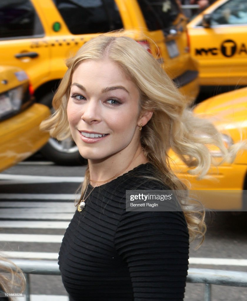 Recording artist LeAnn Rimes attends the It's Y!ou Yahoo! yodel competition at Military Island, Times Square on October 13, 2009 in New York City.