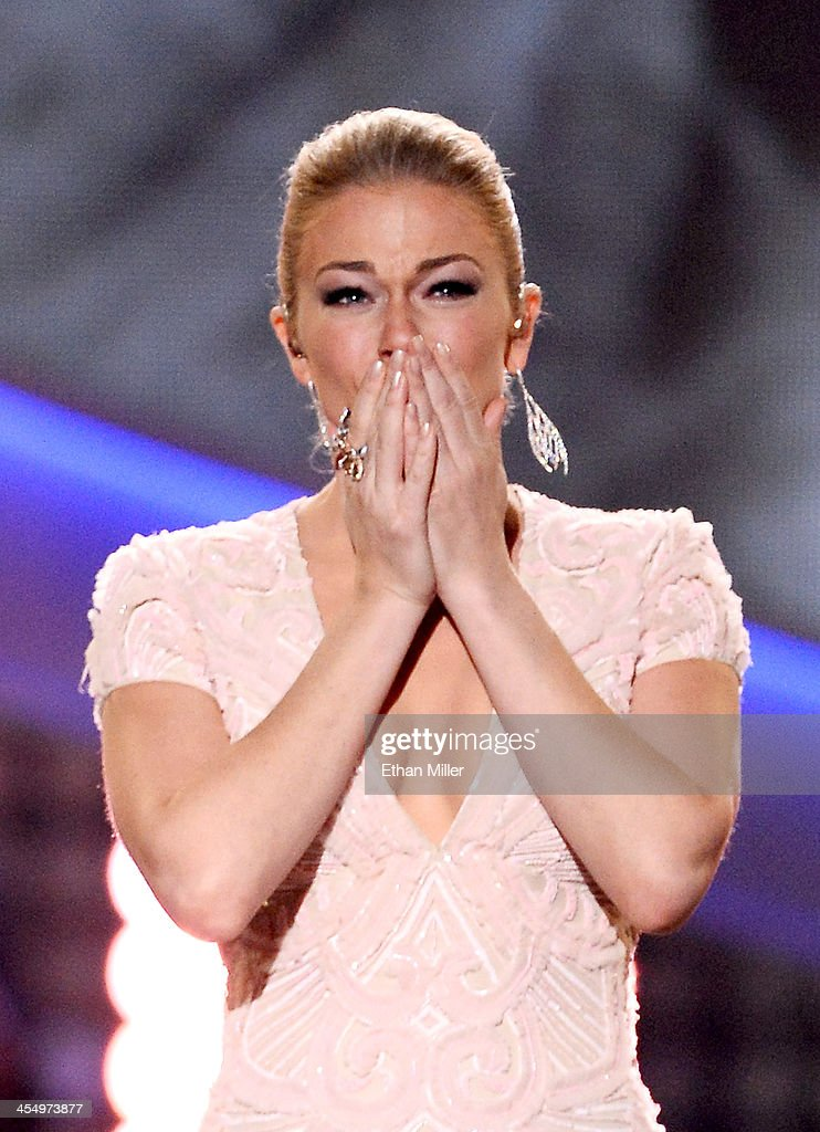 Recording artist LeAnn Rimes performs onstage during the American Country Awards 2013 at the Mandalay Bay Events Center on December 10 2013 in Las...