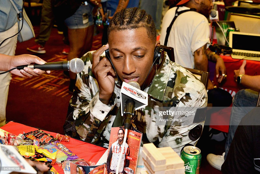 Recording artist <a gi-track='captionPersonalityLinkClicked' href=/galleries/search?phrase=Lecrae&family=editorial&specificpeople=7483341 ng-click='$event.stopPropagation()'>Lecrae</a> attends the radio broadcast center during the 2016 BET Experience at the JW Marriott Los Angeles L.A. Live on June 24, 2016 in Los Angeles, California.