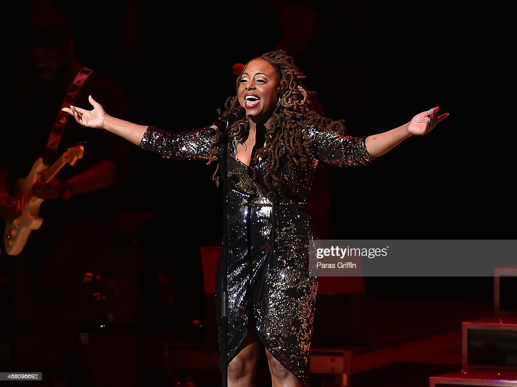 Recording artist Ledisi performs onstage at Atlanta Symphony Hall on March 29 2015 in Atlanta Georgia