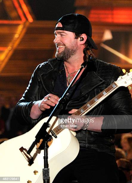 Recording artist Lee Brice performs onstage during the 49th Annual Academy of Country Music Awards at the MGM Grand Garden Arena on April 6 2014 in...