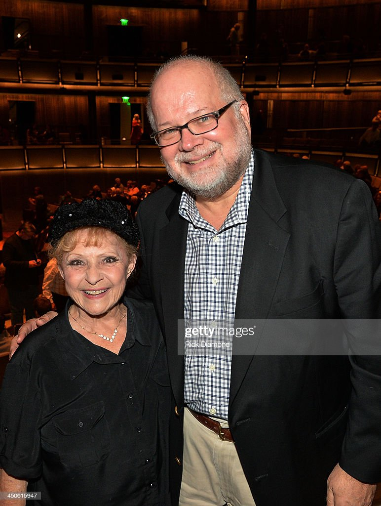 Recording Artist Legend Brenda Lee and Agent Bobby Cudd Paradigm attend Ricky Skaggs and Friends at the CMA Theater on November 18, 2013 in Nashville, Tennessee. Skaggs was recently announced as the Country Music Hall of Fame and Museum's 2013 Artist-in-Residence.