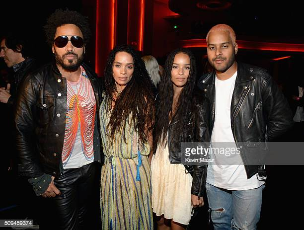 Recording artist Lenny Kravitz actors Lisa Bonet and Zoë Kravitz in Saint Laurent by Hedi Slimane and recording artist Twin Shadow attend Saint...