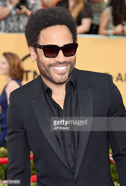 Recording artist Lenny Kravitz attends the 21st Annual Screen Actors Guild Awards at The Shrine Auditorium on January 25 2015 in Los Angeles...