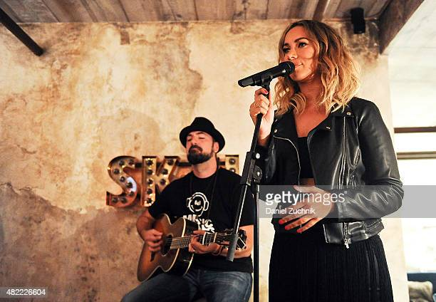 Recording Artist Leona Lewis performs during the Leona Lewis 'I Am' Album Listening Party at Elyx House on July 28 2015 in New York City