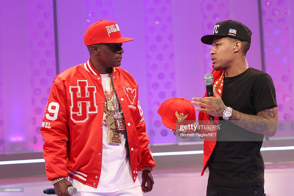 Recording artist Lil Boosie and 106 & Park host Bow Wow attend 106 & Park at BET studio on April 24, 2014 in New York City.
