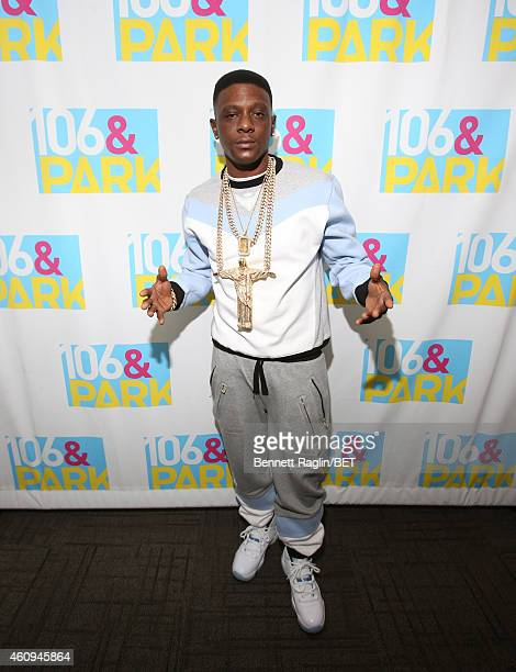 Recording artist Lil Boosie attend 106 Party at BET studio on December 12 2014 in New York City