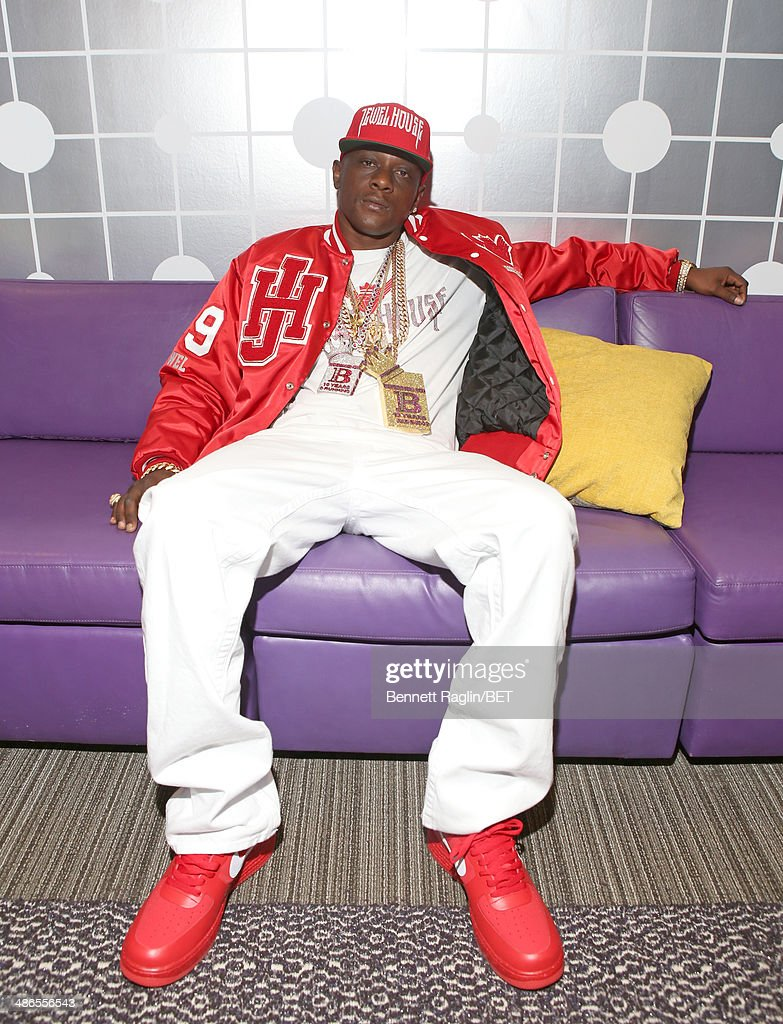 Recording artist <a gi-track='captionPersonalityLinkClicked' href=/galleries/search?phrase=Lil+Boosie&family=editorial&specificpeople=1295943 ng-click='$event.stopPropagation()'>Lil Boosie</a> visits 106 & Park at BET studio on April 24, 2014 in New York City.