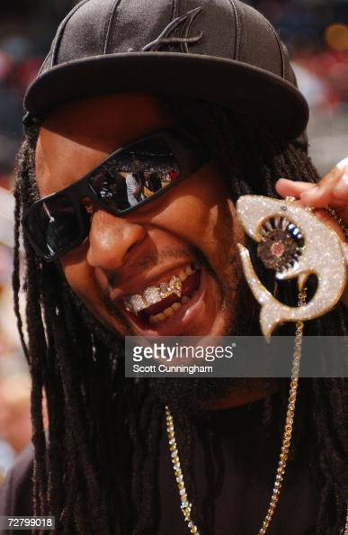 Recording Artist Lil' Jon poses for a photo during a game between the Seattle Sonics and the Atlanta Hawks at Philips Arena on November 11 2006 in...