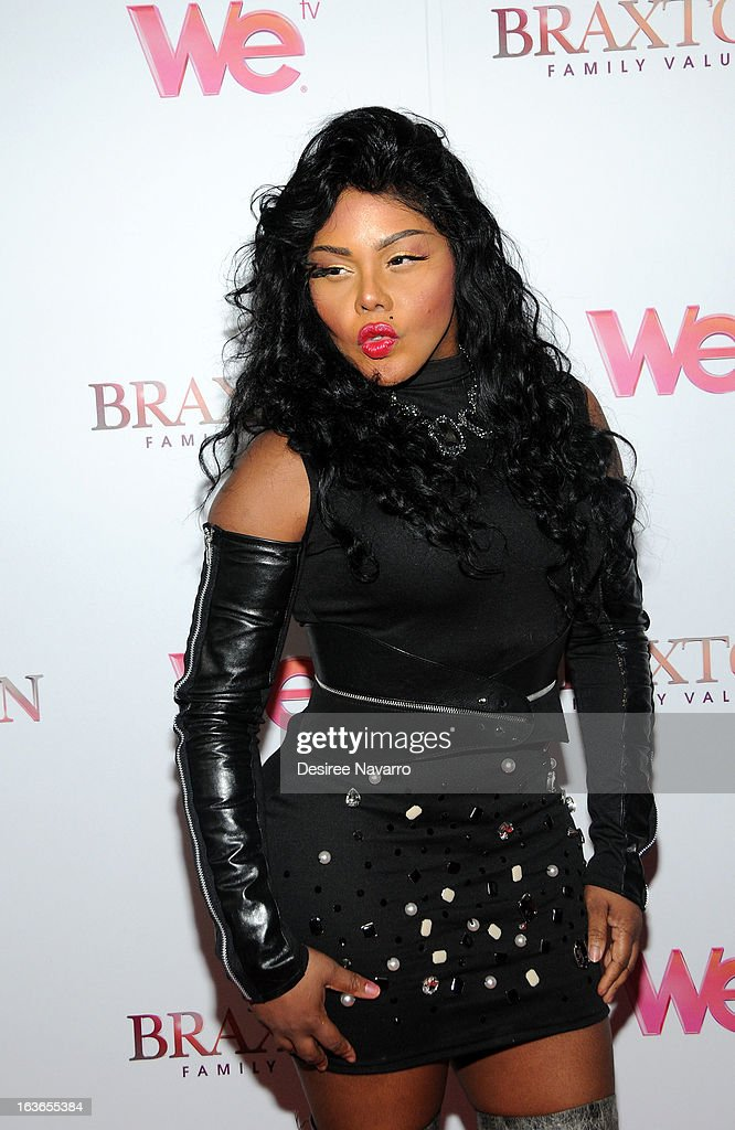 Recording Artist Lil' Kim attends the 'Braxton Family Values' Season Three premiere party at STK Rooftop on March 13, 2013 in New York City.