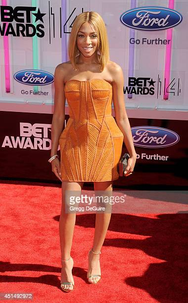 Recording artist Lil' Mama arrives at the BET AWARDS 14 at Nokia Theatre LA Live on June 29 2014 in Los Angeles California