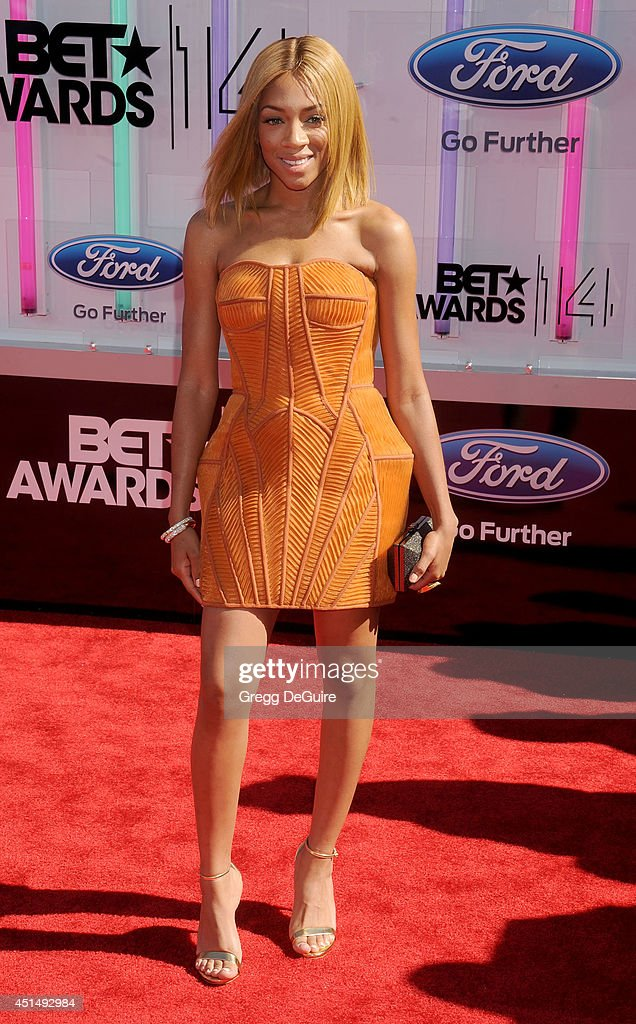 Recording artist Lil' Mama arrives at the BET AWARDS 14 at Nokia Theatre L.A. Live on June 29, 2014 in Los Angeles, California.