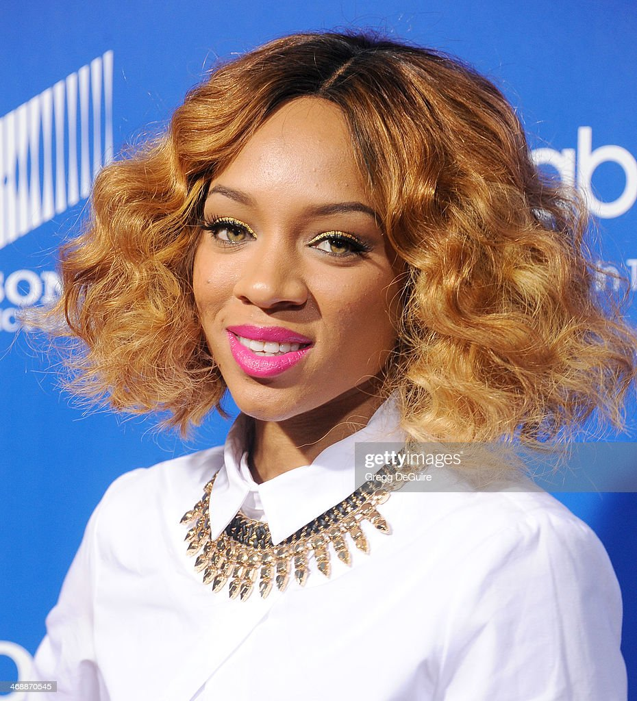 Recording artist Lil Mama arrives at The Pan African Film & Arts Festival premiere of 'About Last Night' at ArcLight Cinemas Cinerama Dome on February 11, 2014 in Hollywood, California.
