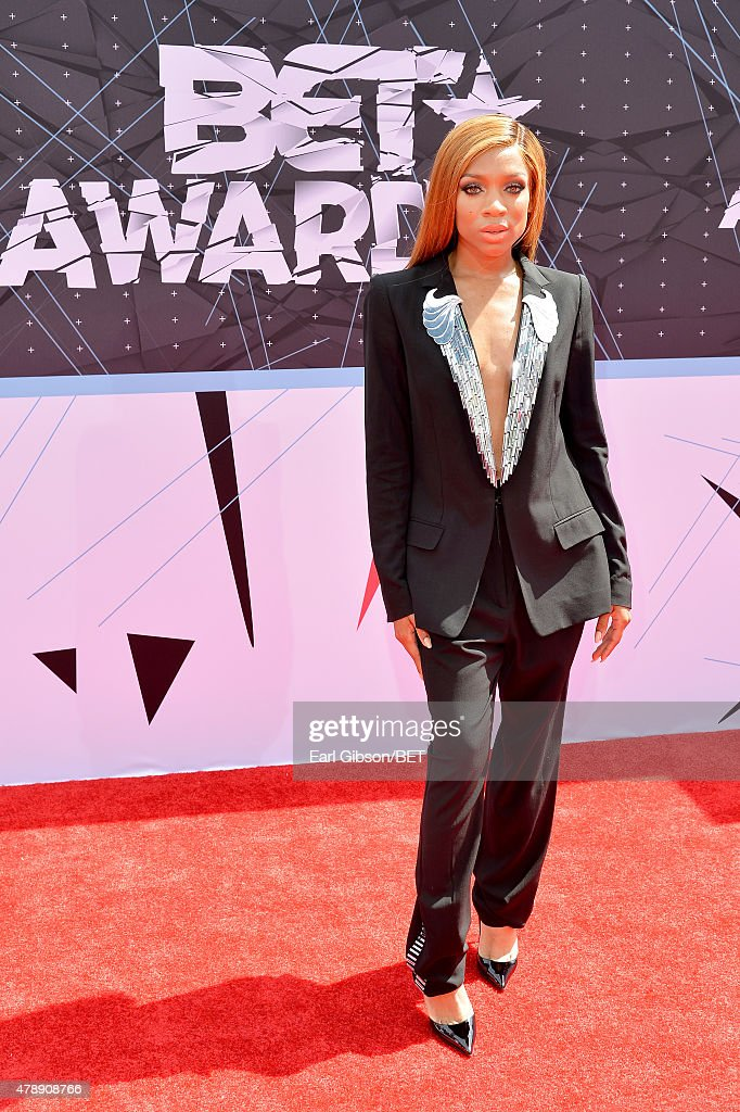 Recording artist Lil' Mama attends the 2015 BET Awards at the Microsoft Theater on June 28 2015 in Los Angeles California