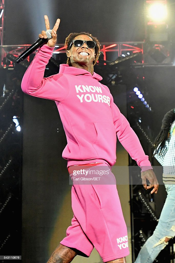 Recording artist Lil Wayne performs onstage during the 2016 BET Experience at Staples Center on June 25, 2016 in Los Angeles, California.