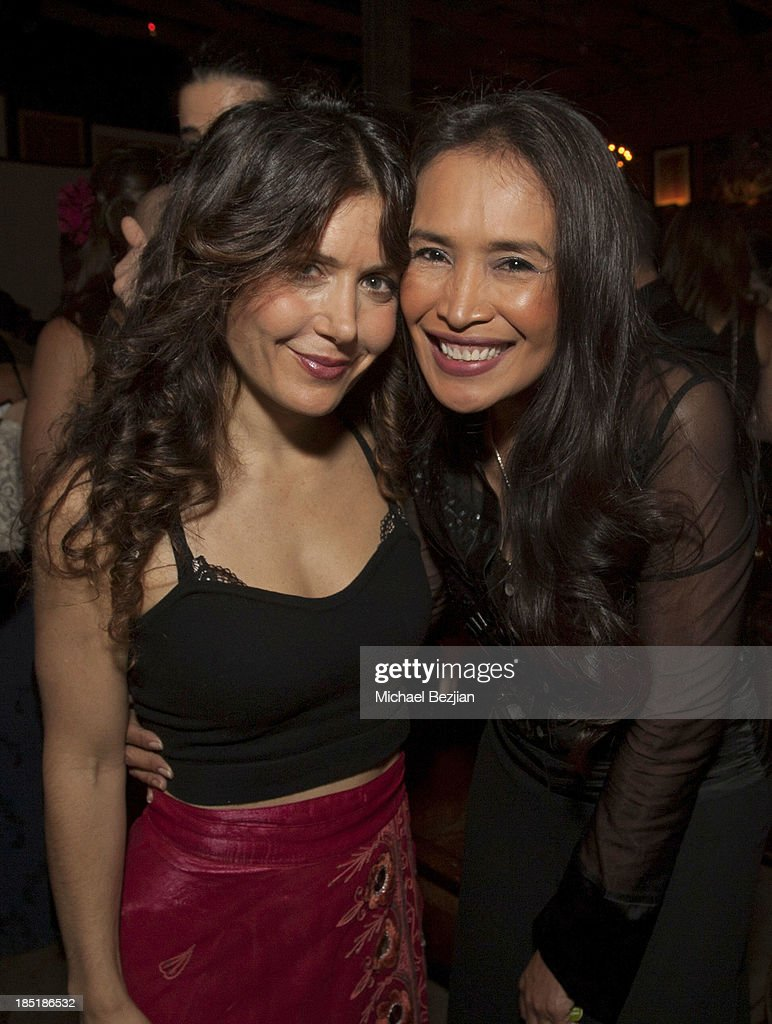 Recording artist Lili Haydn and activist Somaly Mam attend Songs Of Hope Event Benefiting The Somaly Mam Foundation on October 17, 2013 in Hollywood, California.