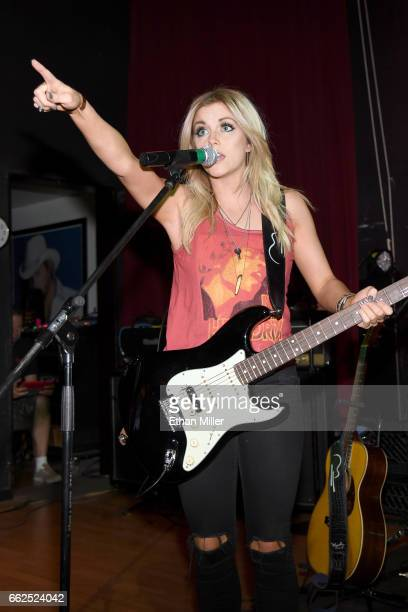 Recording artist Lindsay Ell performs onstage during the ACM After Party For A Cause I Love This Bar Grill at Toby Keith's I Love This Bar Grill...
