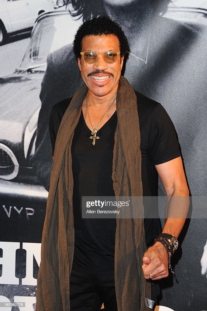 Recording artist <a gi-track='captionPersonalityLinkClicked' href=/galleries/search?phrase=Lionel+Richie&family=editorial&specificpeople=204139 ng-click='$event.stopPropagation()'>Lionel Richie</a> attends the John Varvatos' new book 'John Varvatos: Rock In Fashion' launch party at John Varvatos Los Angeles on November 7, 2013 in Los Angeles, California.