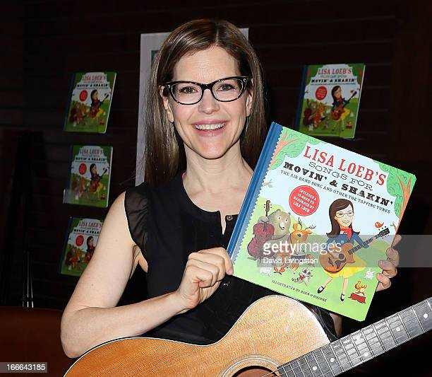 Recording artist Lisa Loeb performs and signs for her new book 'Lisa Loeb's Songs for Movin' Shakin' The Air Band Song and Other ToeTapping Tunes' at...