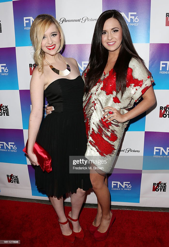 Recording artist Liz (L) and Megan attends the 16th Annual 'Friends 'N' Family' Pre-GRAMMY Event at Paramount Studios on February 8, 2013 in Hollywood, California.