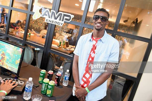 Recording artist London Green attends Next Level Presented By AMP Energy A Hip Hop Gaming Tournament at Rostrum Records on June 23 2016 in Los...