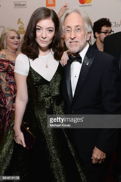Recording artist Lorde and President/CEO of The Recording Academy and GRAMMY Foundation President/CEO Neil Portnow attend PreGRAMMY Gala and Salute...