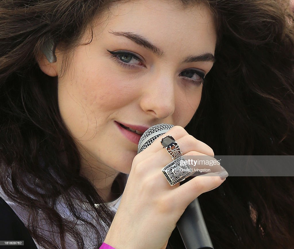 Recording artist <a gi-track='captionPersonalityLinkClicked' href=/galleries/search?phrase=Lorde&family=editorial&specificpeople=3209104 ng-click='$event.stopPropagation()'>Lorde</a> performs at 98.7 FM's Penthouse Party Pad at the Historic Hollywood Tower on September 25, 2013 in Hollywood, California.