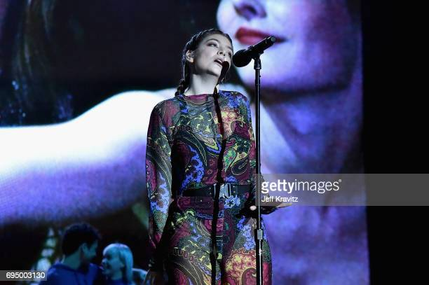 Recording artist Lorde performs onstage at What Stage during Day 4 of the 2017 Bonnaroo Arts And Music Festival on June 11 2017 in Manchester...