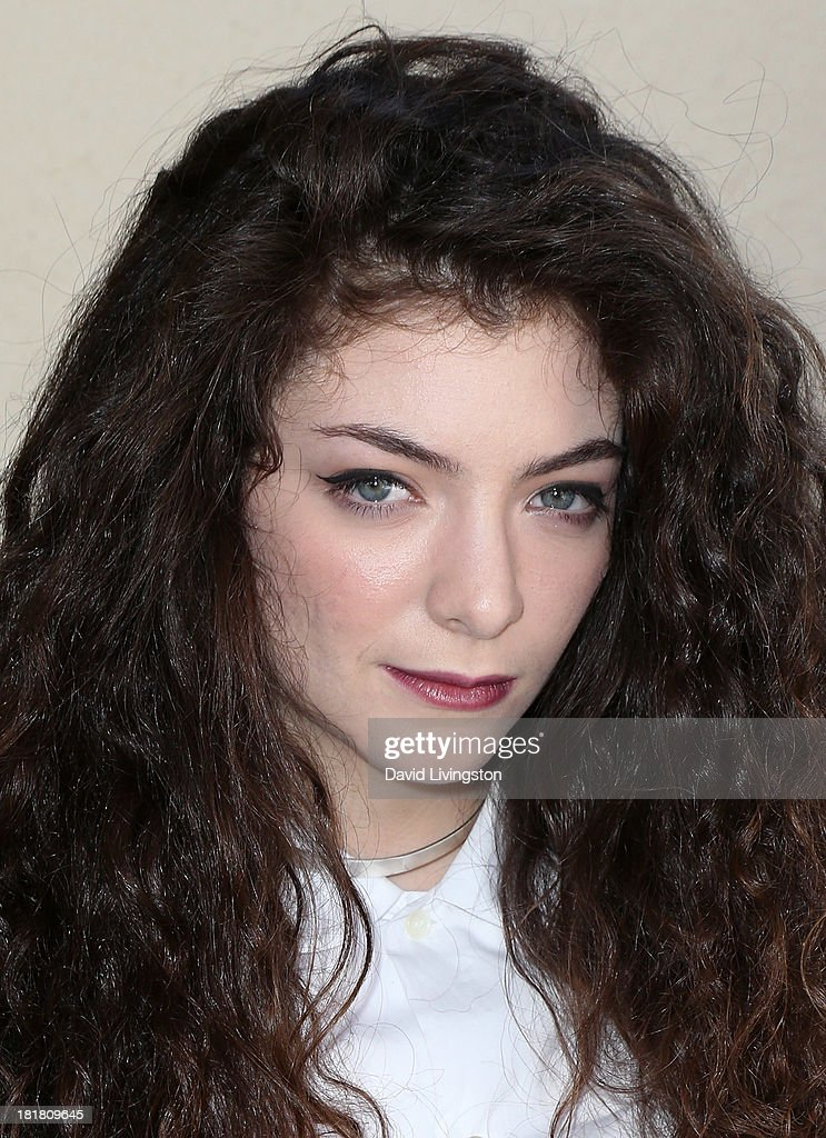 Recording artist <a gi-track='captionPersonalityLinkClicked' href=/galleries/search?phrase=Lorde&family=editorial&specificpeople=3209104 ng-click='$event.stopPropagation()'>Lorde</a> poses prior to performing at 98.7 FM's Penthouse Party Pad at the Historic Hollywood Tower on September 25, 2013 in Hollywood, California.