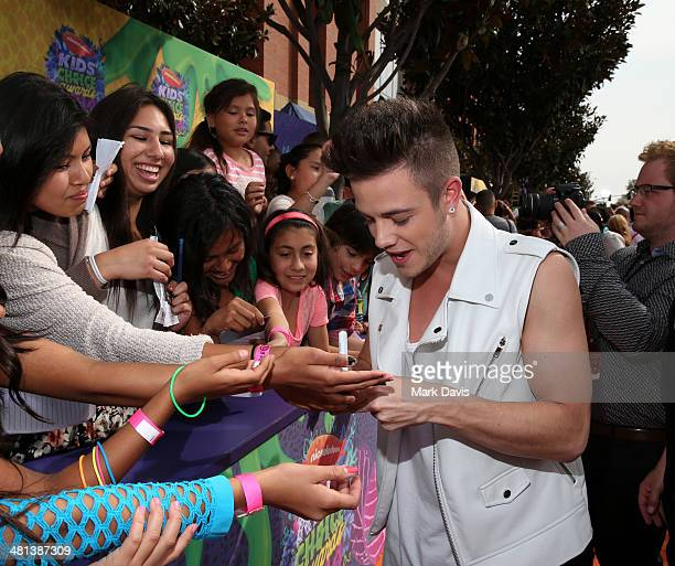 Recording artist Luca Hänni attends Nickelodeon's 27th Annual Kids' Choice Awards held at USC Galen Center on March 29 2014 in Los Angeles California