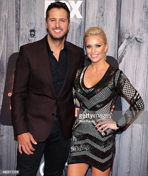 Recording artist Luke Bryan and Caroline Boyer attend the 2014 American Country Countdown Awards at Music City Center on December 15 2014 in...