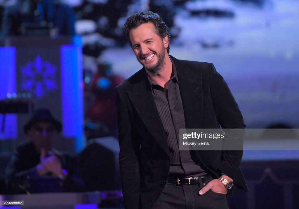 Recording artist Luke Bryan performs during CMA 2017 Country Christmas at The Grand Ole Opry on November 14, 2017 in Nashville, Tennessee.